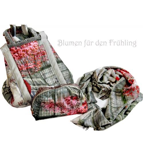 Schönbrunn-Palmenhaus. Tuch und Tasche und Kosmetikbag
